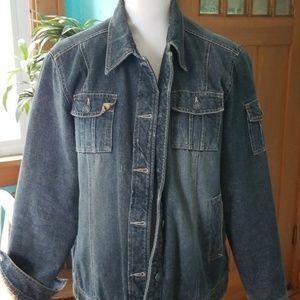 Ruff hewn lined Jean  jacket